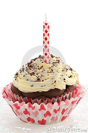 Low fat chocolate cupcake