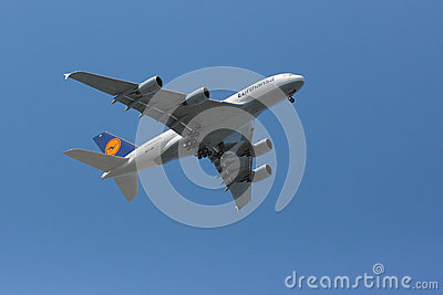 Low-flying A380 Editorial Photography