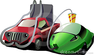 Low and high fuel consumption cars