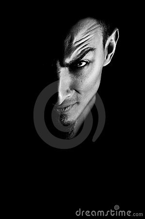 Free Low Key Portrait Of Evil Royalty Free Stock Photos - 17576958