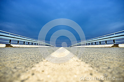 Low perspective of overpass road