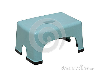 Low plastic stool