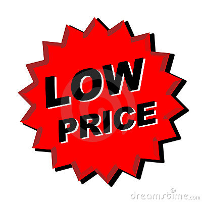 Low Price Sign Stock Image Image 6603591
