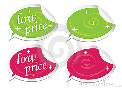 Low price stickers