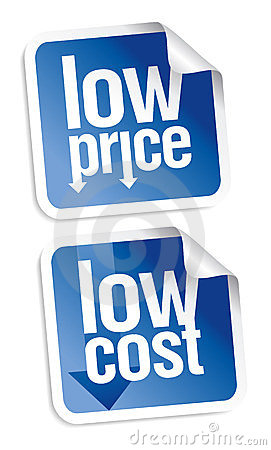 Low price stickers set.