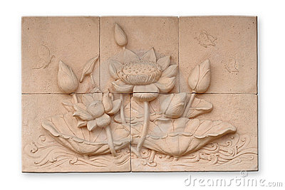 Low relief cement Thai style