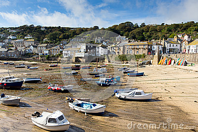 Low tide and boats in English harbour
