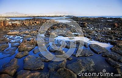 Low tide on the edge of El Cotillo, Fuerteventura