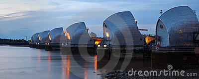 Low Tide At The Thames Barrier