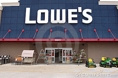 Lowe s cuts store openings Editorial Photo