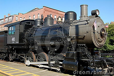 Lowell, MA: Boston & Maine Steam Engine Editorial Stock Image