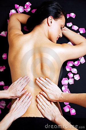 Free Lower Back Massage Royalty Free Stock Photography - 13305977