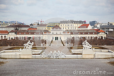 Lower Belvedere in Vienna Editorial Stock Image