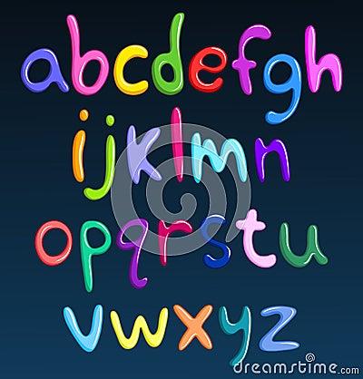 Free Lower Case Colorful Spaghetti Alphabet Royalty Free Stock Image - 24770596