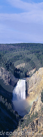 Lower Falls at Grand Canyon of Yellowstone,