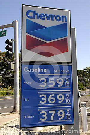 Free LOWER GAS PRICE Royalty Free Stock Images - 49111439