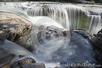 Lower Lewis River Falls Closeup