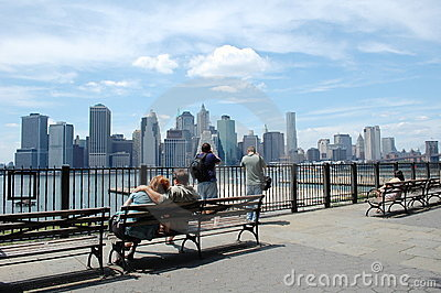 Lower Manhattan from Brooklyn Heights Editorial Stock Image