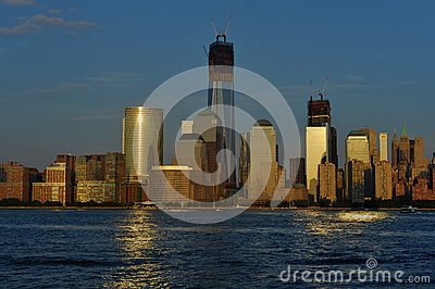 Lower Manhattan from New Jersey