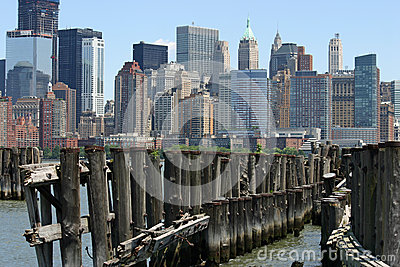 Lower Manhattan over Pier