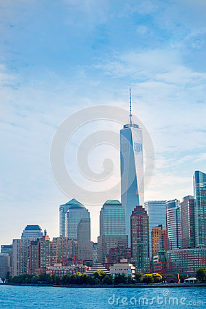 Free Lower Manhattan Skyline Battery Park New York US Royalty Free Stock Images - 49003419