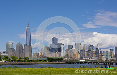 Lower Manhattan Skyline Editorial Photo