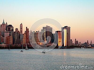 Lower Manhattan at Sundown