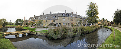 Lower slaughter cotswalds village oxfordshire uk