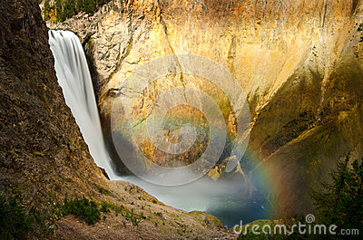 Lower Yellowstone Falls and Rainbow