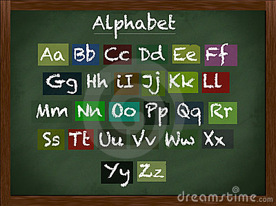 Lowercase and uppercase alphabet