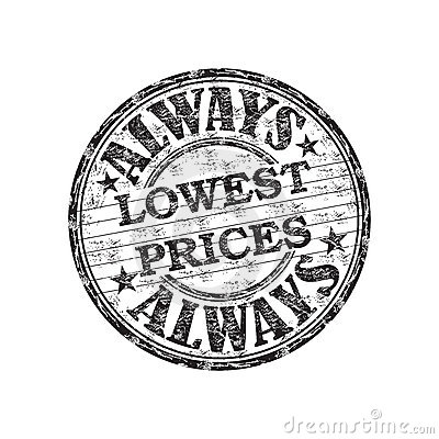 Always lowest prices stamp