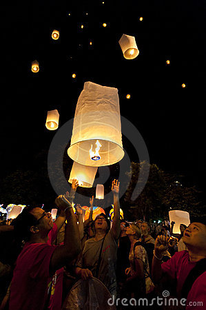 Loy Krathong festival Editorial Photography