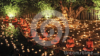 Loy Krathong festival in Chiangmai Editorial Stock Image