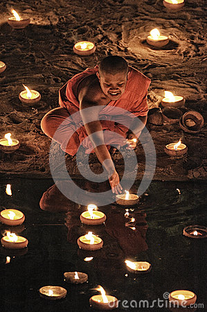 Loy Krathong festival in Chiangmai Editorial Photography