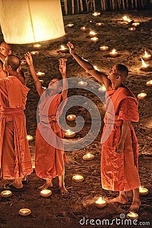 Loy Krathong festival in Chiangmai Editorial Image