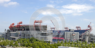LP Field is a football stadium in Nashville, Tenne Editorial Stock Image