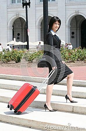Löpande turkvinna för affär
