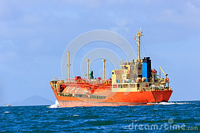LPG Vessel at mid of sea