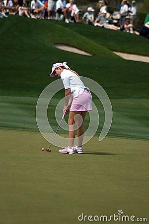 LPGA Paula Creamer lines up final shot Editorial Photography