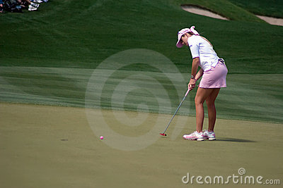 LPGA Paula Creamer putts final hole Editorial Photography