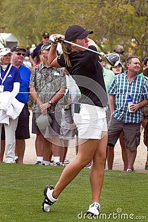 LPGA Womens Golfer Karin Sjodin Editorial Photography