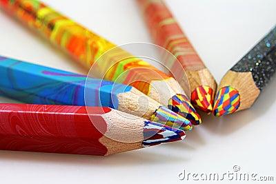 Lápices del color