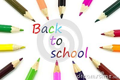 Lápices para de nuevo a la escuela