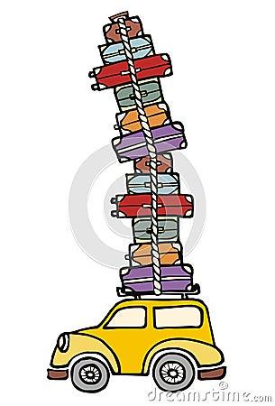 Lässt Spaß anstreben: ein Auto betriebsbereit zu den Ferien.