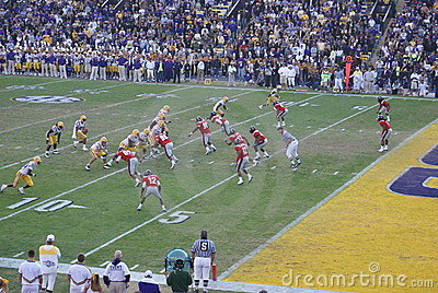 LSU Football Editorial Stock Image