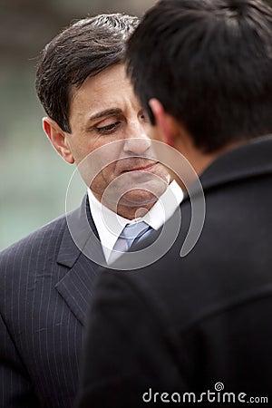 Lt. Governor Mongiardo listens Editorial Stock Image