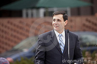 Lt. Governor Mongiardo speaking Editorial Image