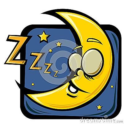 Lua do sono dos desenhos animados