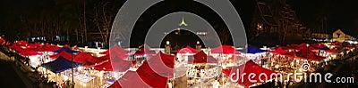 Luang Prabang Night Market Panorama