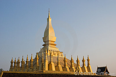 The That Luang Stupa in Vientiane, Laos